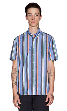 Gitman Vintage Archive Awning Stripe Button Down in Multi