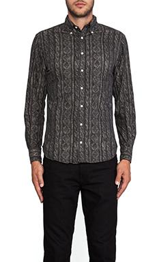 Gitman Vintage Nice Sweater Button Down in Black