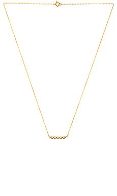 GJENMI Necklace in Gold & White Sapphire