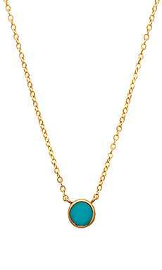 GJENMI Circle Necklace in Turquoise