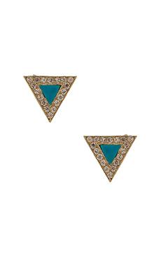 GJENMI Triangle Stud Earring in Turquoise