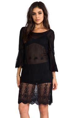Gypsy Junkies Mimi Silk Tunic in Black