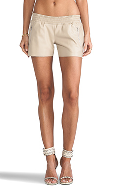 Generation Love June Zipper Running Shorts in Beige