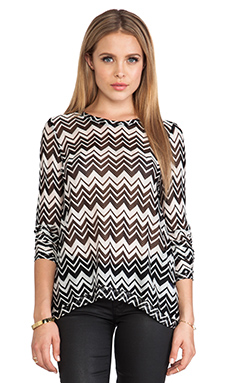 Generation Love Judy Open Back Long Sleeve Top in Zig Zag