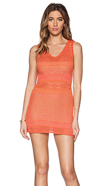 Goddis Jasper Mini Dress in Coral Fire