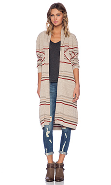 Goddis Vance Cardigan in Sand City