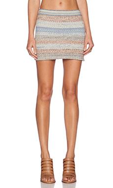 Goddis Colton Mini Skirt in Ocean Spray