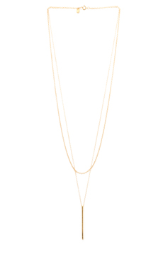 Gorjana Pressed Taner Layer Necklace in Gold
