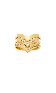 gorjana Tori Ring Set in Gold