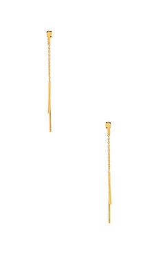 gorjana Mave Double Drop Earrings in Gold