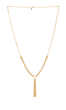 gorjana Mave Tassel Necklace in Gold