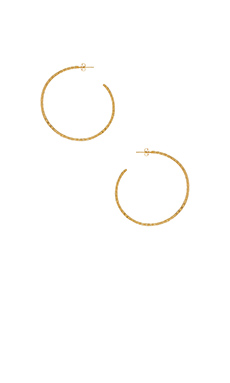 gorjana Bali Arc Hoops in Gold