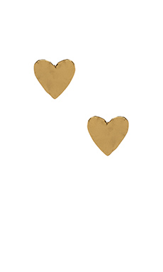 gorjana Chloe Heart Studs in Gold