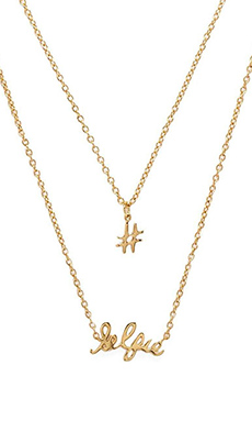 gorjana #Selfie Necklace Set in Gold