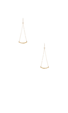 gorjana Taner Bar Mini Swing Earrings in Gold