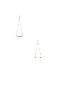 gorjana Taner Bar Mini Swing Earrings in Gold
