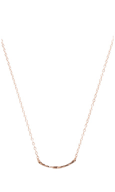 gorjana Taner Bar Mini Necklace in Rose Gold