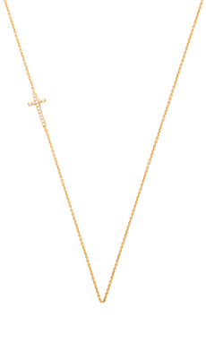 gorjana Shimmer Cross Asymmetrical Necklace in Gold