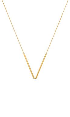 gorjana Bali Tube Small V Necklace in Gold