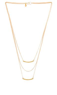 gorjana Taner Bar Mini Triple Layer Necklace in Gold