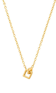 gorjana Ryder Charm Necklace in Gold
