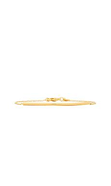gorjana Bali Tube Curved Bracelet in Gold