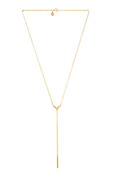 gorjana Woodburn Lariat Necklace in Gold