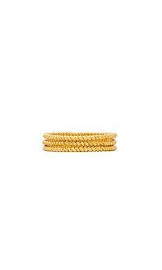 gorjana Rope G Midi Ring Set of 3 in Gold