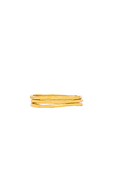 gorjana Hammered G Midi Ring Set of 3 in Gold