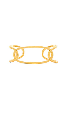gorjana Taner Interlocking Small Cuff in Gold