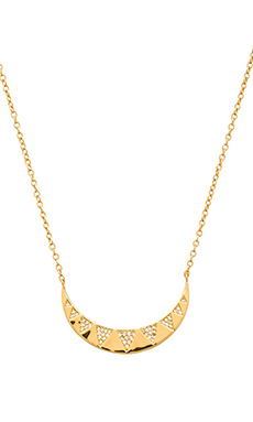 gorjana Crescent Shimmer Necklace in Gold