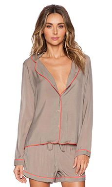 Gooseberry Intimates Milan Shirt in Vision & Coral