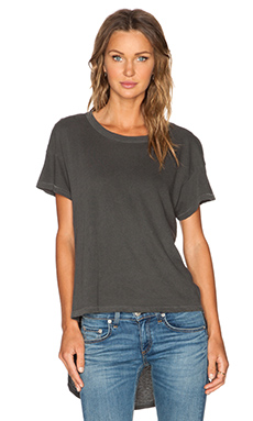 The Great The Shirttail Tee in Washed Black