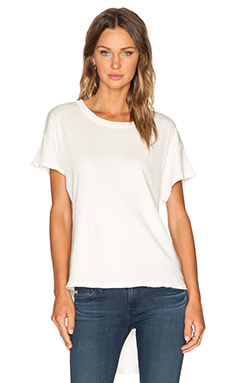The Great The Shirttail Tee in Washed White