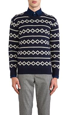 GANT Rugger Diamond Jacquard Sweater in Navy