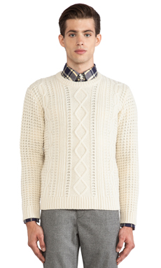 GANT Rugger The Cable Sweater in Cream