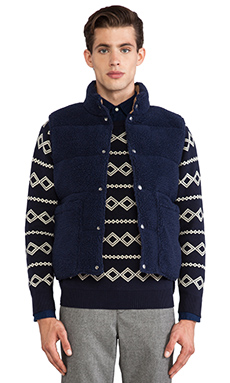 GANT Rugger The Reverser Vest in Navy