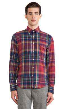 GANT Rugger Windblown Flannel in Red