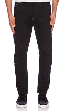 G-Star Type C 3D Loose Tapered Black Trig Denim in 3D Raw
