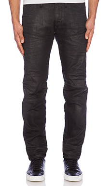 G-Star 5620 Low Tapered Klin Black Denim in Cobler Smash