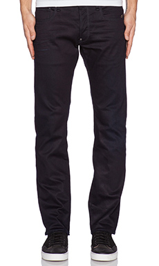 G-Star Defend Straight Comfort Engine Denim in Dark Aged
