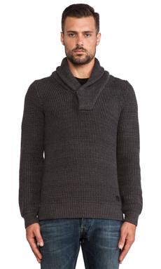 G-Star Gralvent Shawl Collar Sweater in Raven