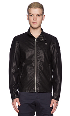 G-Star Ryon Vegan Leather Jacket in Black