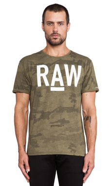 G-Star A-Camo Tee in Dark Moss