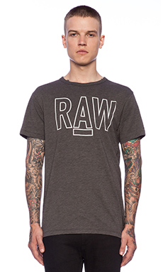 G-Star Basswood Tee in Raven