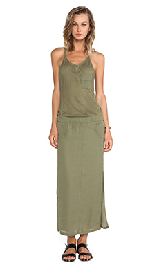 G-Star Tycho Maxi Dress in Comet Green