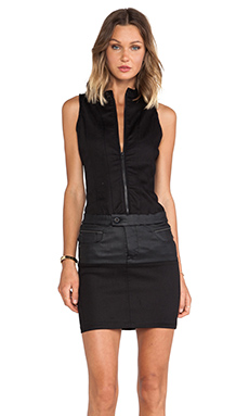 G-Star Radar Biker Dress in Slander Black Super Stretch Raw