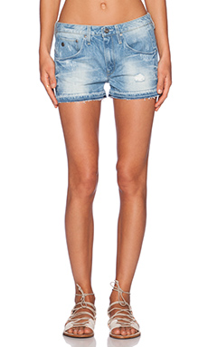 G-Star Arc Ripped Boyfriend Short in Light Aged Destroy