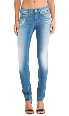G-Star 3301 Contour Skinny in Arvick Super Stretch Light Aged