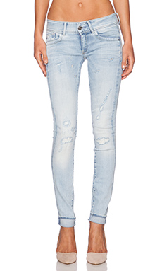 G-Star Lynn Skinny in Light Aged Destroy